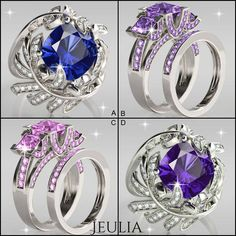 Which color do you love best? #jeulia #engagementrings #fashionjewelry