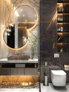 Modern Luxury Bathroom, Bathroom Design Luxury, Modern Bathroom Design, Home Interior Design, Luxury Master Bathrooms, Small Bathrooms, Wc Design, Toilet Design, Floor Design