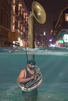 Scuba tuba - play bass lines like that! Classical Music Humor, Musician Jokes, Sousaphone, Band Nerd, Brass Band, Music Pictures, Music Is Life, Good Music, New Orleans
