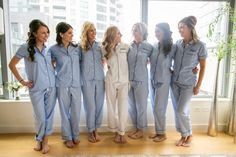 From my wedding... Personalized pajamas getting ready outfit for bridesmaids and bride