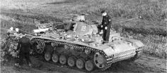 Panzer III (5cm L/60) Ausf. J Tp part of 16. Infanterie-Division (mot.) on its way to South Caucasus, summer 1942.