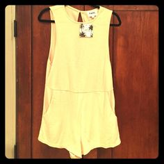 Short romper NWT, beige shorts romper, open back, super cute for summer! Fits more like a small Sabo Skirt Other