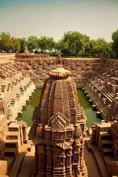 Sun temple at Modhera, Gujrat, #India  #Travel  #Religion