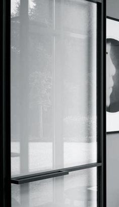 Steel door detail - Project by Phyl Porte Design, Door Design, Steel Doors And Windows, Door Detail, Window Detail, Door Window Treatments, Design Blog, Interior Design Companies, Entrance Doors