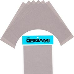 """This standard origami pack is perfect for full-on projects or a subtle accent to an existing project! Containing 50 sheets of grey, non-toxic origami paper, this pack is ideal for making paper cranes, grey sharks, or any other origami pattern! Each 6"""" square sheet of this must-have pack is imported from Japan."""