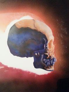 Skull with flames ( Dru Blair ) #6 (06.05.14) Étac. Schoelershammer paper. HS Infinity