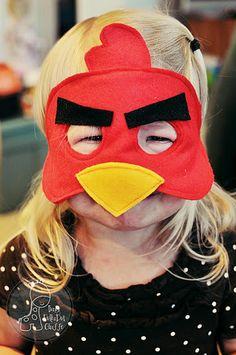 Angry Birds felt mask