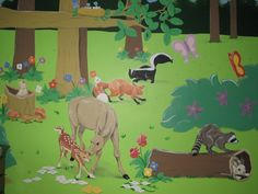 Forest animal mural