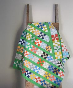 "Grassy Doe quilt top, charm square block tutorial, 9-patch blocks from 5"" charm squares...what?"