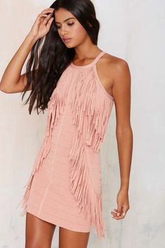 Bandit Fringe Dress - Going Out | Body-Con | Solid