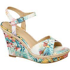 #Graceland #Keil #Sandalette #multicolor für #Damen - Absatz 10 5 cm Absatztyp Keilabsatz Farbe multicolor Laufsohle TPR Obermaterial Textil Innenmaterial Synthetik