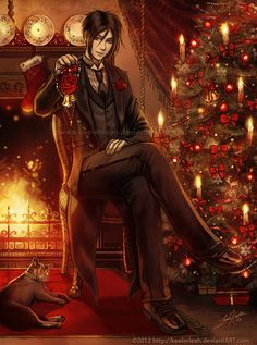 A Kuroshitsuji Christmas- Sebastian by keelerleah.deviantart.com