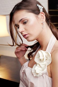 Makeup artist for La Robe Blanche wedding dress designer.