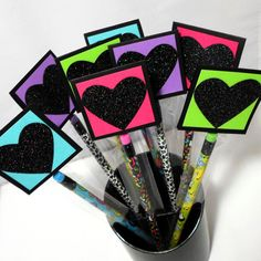 Pencil Valentines 24 Pack  Personalized Pencil by AcarrdianCards, $36.00