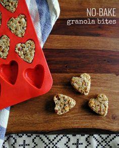 no bake heart shaped granola bites