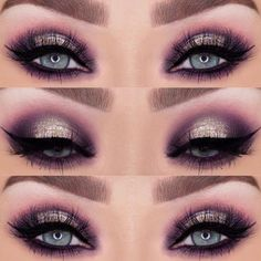 Gorgeous Makeup: Tips and Tricks With Eye Makeup and Eyeshadow – Makeup Design Ideas Eyeshadow For Blue Eyes, Blue Eye Makeup, Eye Makeup Tips, Glitter Makeup, Makeup For Brown Eyes, Eyeshadow Makeup, Makeup Ideas, Eyeshadows, Makeup Tutorials