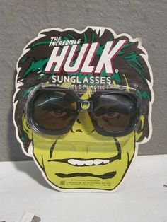 Vintage Mint on Card 1978 Marvel Comics The Incredible Hulk Sunglasses by Nasta | eBay
