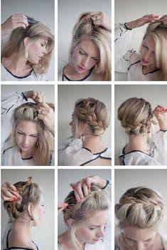 crown braid; this hair style is so pretty