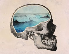 SKULLS - Brain Waves Art Print by Chase Kunz | Society6