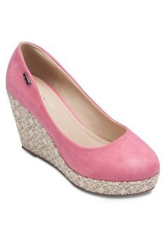 Casual Comfy Wedges from Spiffy in pink_1
