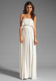RACHEL PALLY Sienna Strapless Maxi Dress in White