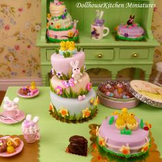Hey, I found this really awesome Etsy listing at https://www.etsy.com/listing/226687202/easter-whimsical-cake-dollhouse