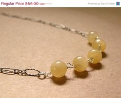 HOLIDAY SALE OOAK   Lemony Yellow Gemstone by ScorpionMoonDesigns, $47.60