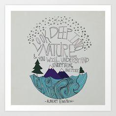 Einstein: Nature Art Print by Leah Flores - $18.00