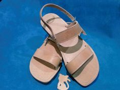 Women's Leather Sandals Nature Brown by LeatherDream on Etsy