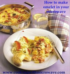 How to make omelet in your microwave Everyday Omelet, can be used for breakfast or lunch, and why not for dinner too. It's quick and easy, tastes delicious and is a great way to use up leftovers