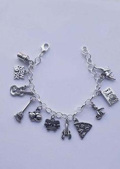 Pentagramme /_ Bead pour Argent Chaîne Européenne Bracelet Breloque /_ Wiccan Pagan Samhain /_ R24