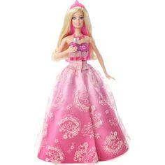 Boneca Barbie Princesa e a Pop Star - 2 em 1 - Mattel, recrie lindos momentos do filme Barbie A Princesa e a Pop Star. Transformação mágica da princesa para uma pop star.