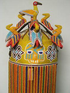 Yoruba Ade Oba (Adénlá) (King's Beaded Crown), Nigeria African Crown, Key Stage 3, Cultures Du Monde, Yoruba People, Afrique Art, African Tribes, Textiles, Popular Art, Seed Beads