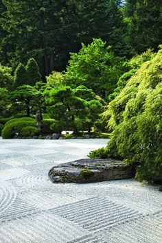 article on The Portland Japanese Garden. A lot of good information about philosophy and design.Great article on The Portland Japanese Garden. A lot of good information about philosophy and design. Japanese Rock Garden, Zen Rock Garden, Portland Japanese Garden, Magic Garden, Japanese Landscape, Garden Stones, Dream Garden, Japanese Gardens, Garden Art