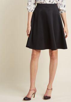 En Pointe Accompanist A-Line Skirt in Black