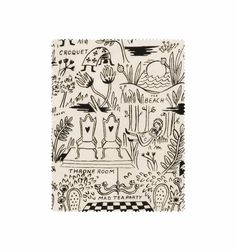 Cotton + Steel - Magic Forest (natural) - Screen-printed Unbleached Cotton Fabric