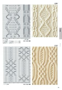 Photo from the album Knitting Pattern Book by Hitomi Shida on - Śc . Photo from the album Knitting Pattern Book by Hitomi Shida on - Ściegi - # Cable Knitting Patterns, Knitting Stiches, Knitting Charts, Lace Knitting, Knitting Designs, Knit Patterns, Knitting Projects, Stitch Patterns, Pattern Books