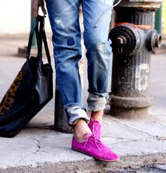 PANTONE Color of the Year 2014 - Radiant Orchid fashion. Love these Shoes! Perfect POP of Color!
