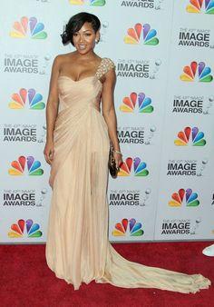 66d8e1f1ad Shop Meagan Good Sheath Column Floor-length Chiffon NAACP Image Awards  Dresses online