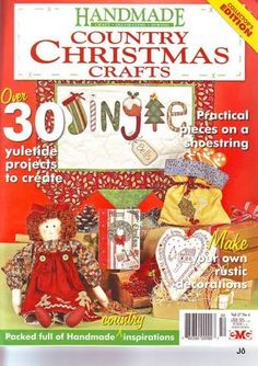 Handmade 27 - Jô Arte - Álbuns da web do Picasa Country Christmas Crafts, Country Crafts, Cross Stitch Magazines, Cross Stitch Books, Christmas Makes, Christmas Books, Christmas Ideas, Web Gallery, Book Crafts