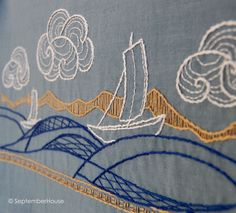 modern hand embroidery by SeptemberHouse