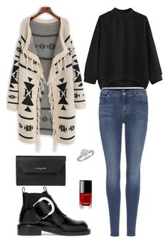 Street style by dalma-m on Polyvore featuring polyvore fashion style 7 For All Mankind Maison Margiela Lancaster Tiffany & Co. Chanel clothing