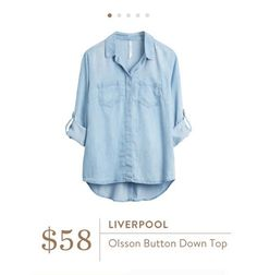 Stitch Fix: Liverpool Olsson Button Down Top $58