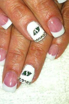Acrylic nails Body & Sole Estevan, sk  Saskatchewan Rough Riders Sport Nails, Gell Nails, Saskatchewan Roughriders, Saskatchewan Canada, Rough Riders, Girl Stuff, Nail Ideas, Acrylic Nails, Cool Things To Buy