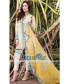 Pakistani Latest Fashion Dresses Online - Crescent Lawn 2015