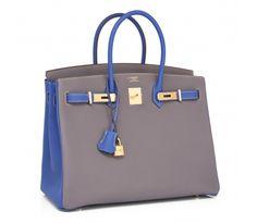 15e6eac81c Hermes HSS Etain Blue Electric 35cm Togo Birkin Bag Horseshoe Stamp My Bags