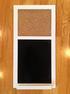 Chalkboard And Corkboard Combo With Shelf 35 00 Via Etsy Crafty Shelves