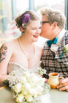 Such a sweet couple photo of these brides...