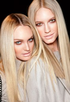 blonde babes #beauty #hair #style #fashion