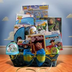 Gift Basket for Children Filled Toy Story Children « Holiday Adds